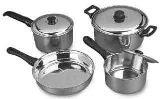 7Pcs.Cookware Set : click to view enlarge image