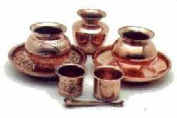 copper Puja items